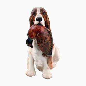 Cocker Spaniel with Pheasant Porcelain Figurine from Royal Doulton, 1930s