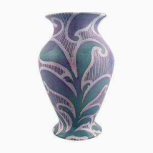 Antique Art Nouveau Vase by Gunnar Wennerberg for Gustavsberg, 1902