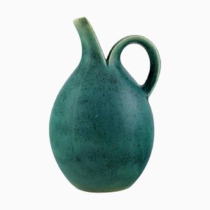 Model No. 64 Pitcher in Glazed Stoneware by Eva Stæhr-Nielsen for Saxbo, 1940s