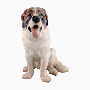 Large St. Bernard Dog Porcelain Figure from Bing & Grondahl