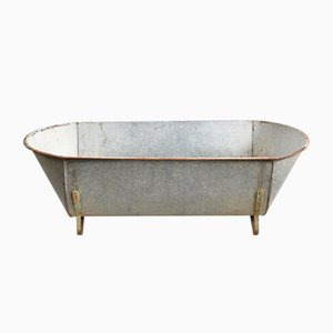 Large Vintage Galvanised Bath Trough Planter