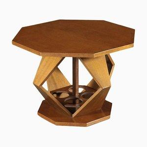 Tavolino impiallacciato in noce di Tanganika, anni '70