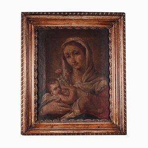 Madonna col bambino, olio su tela