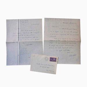 Lettres Autographiées Vittorio Rieti - 1944 - Set de 2