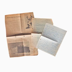 Ossip Zadkine - Autograph Letters -1950s - Set of 3