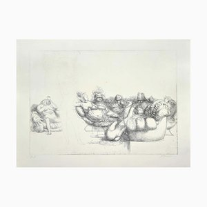 Riccardo Tommasi Ferroni - The Queen of the Room - Etching - 1970s