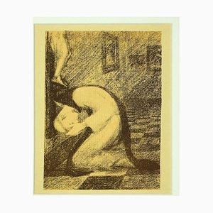 Constant Montald - Le Cloître - Lithograph on Paper - Late 19th-Century