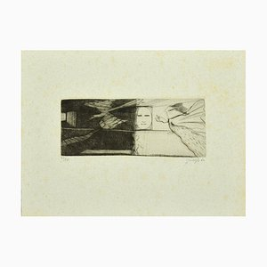 Guelfo Bianchini - The Phoenix - Etching on Paper - 1962