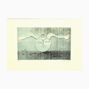 Guelfo Bianchini - Full Moon - Etching on Paper - 1978