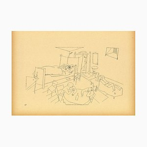 George Grosz - Cross Building Four Flights of Stairs - Offset and Lithograph - 1923