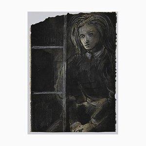 Eugene Berman - Retrato - Tinta china y acuarela - años 60
