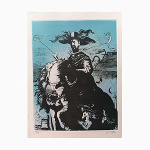 Guelfo Bianchini - Homage To De Chirico - Lithograph on Paper - 1978