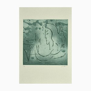 Guelfo Bianchini - The Muse - Etching on Paper - 1995