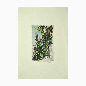 Guelfo Bianchini - Flowers - Etching on Paper - 1961