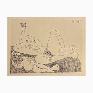 Pablo Picasso - Nude Women - Etching on Paper - 1970s