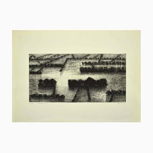 Maurice Chot Plassot - Flood II - Etching - 1970s