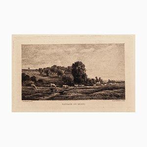 Charles-françois Daubigny - Landscape Berri - Etching - 19th-Century