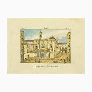 Augusto Fornari - S. Giovanni A Carbonara - Etching - 19th-Century