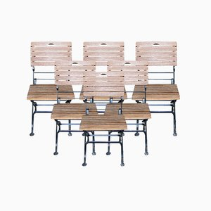 Teak Garden or Bistro Chairs, Set of 6