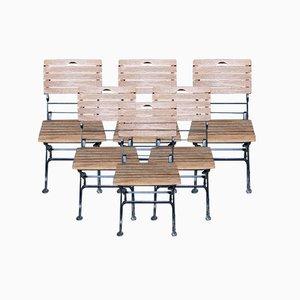 Teak Garten oder Bistro Stühle, 6er Set