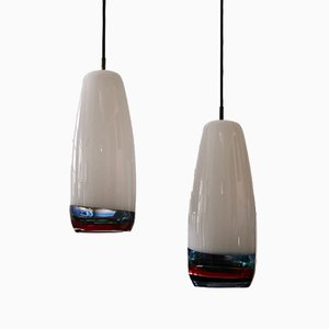 Pendant Lamps by Massimo Vignelli for Venini, 1954, Set of 2