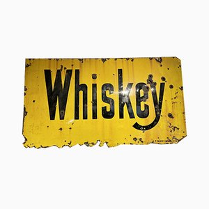 Antique American Enamel Whiskey Sign