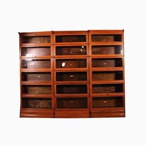 Antique Oak Globe Wernicke Wall Units, Set of 3