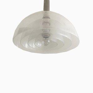 Lampe à Suspension LT 338 Mid-Century en Verre par Carlo Nason pour Mazzega, Italie