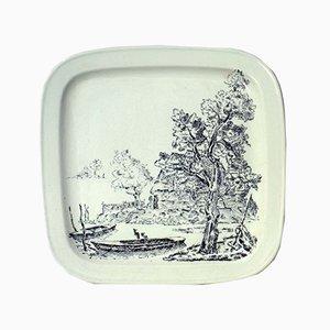 Mid-Century Italian Pottery Plate by Guido Andlovitz for Lavenia, 1930s