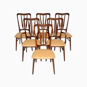 Dänische Esszimmerstühle aus Holz & Leder von Niels Kofoed, 1960er, 6er Set