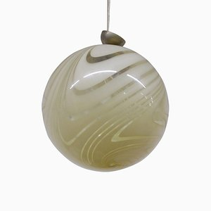 Vintage Murano Glass Ceiling Lamp by Carlo Scarpa for Venini, 1940s