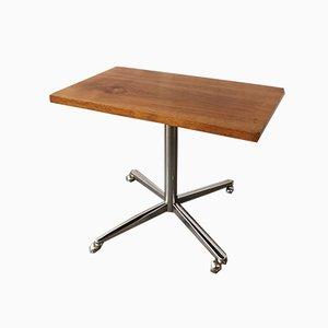 Mid-Century Chrome & Teak Coffee Table, 1960s