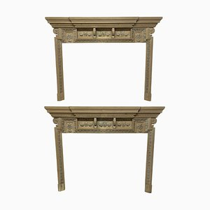 Large 18th Century English Fire Surrounds, Set of 2