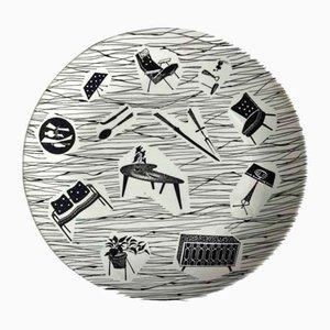 Piatto Mid-Century in ceramica di Homemaker