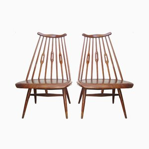 Vintage Scandinavian Mademoiselle Chairs by Tapioovara, 1950s, Set of 2