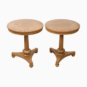 Victorian Oak Side Tables, Set of 2