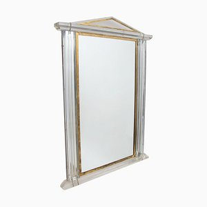 French Gold & Lucite Mirror, 1970s