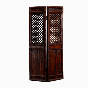 Antique Lattice Room Divider