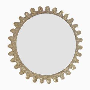 Vintage Illuminated Round Mirror
