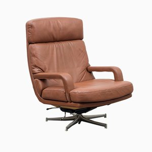Leather Swivel Chair by Bernd Münzebrock for Walter Knoll / Wilhelm Knoll, 1970s