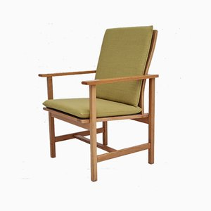 Dänischer Sessel aus Wolle & Eiche von Børge Mogensen für Fredericia Stolefabrik, 1970er