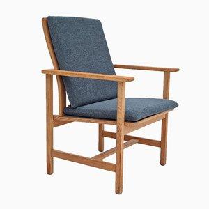 Danish Fabric & Oak Armchair by Børge Mogensen for Fredericia Stolefabrik, 1970s