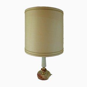 Mid-Century White Onyx Table Lamp, 1950s