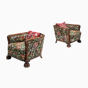 Antique Chippendale Style Armchairs, Set of 2