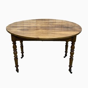 19th Century Louis Philippe Cherry Drop Leaf Dining Table
