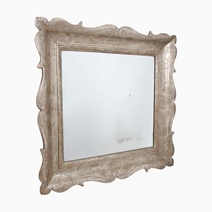 19th Century Italian Wood & Silver Mirror
