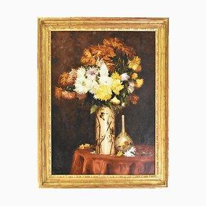Stillleben mit Gänseblümchen, 19. Jh., Öl auf Leinwand
