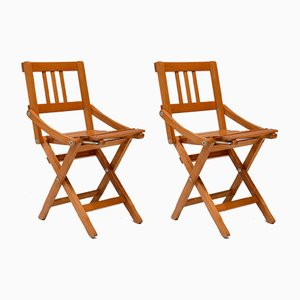 Vintage Italian Childrens Chairs by Brevetti Reguitti for Fratelli Reguitti, 1940s, Set of 2