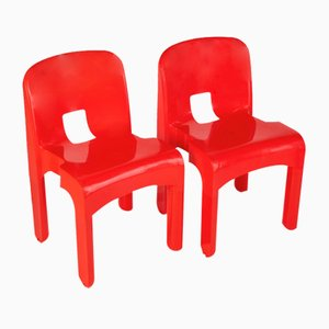 Vintage Dining Chairs by Joe Colombo for Kartell, 1970s, Set of 2