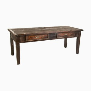 Large Antique Walnut Dining Table